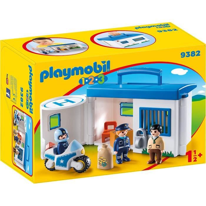 UNIVERS MINIATURE PLAYMOBIL 9382 - PLAYMOBIL 1.2.3 - Commissariat de