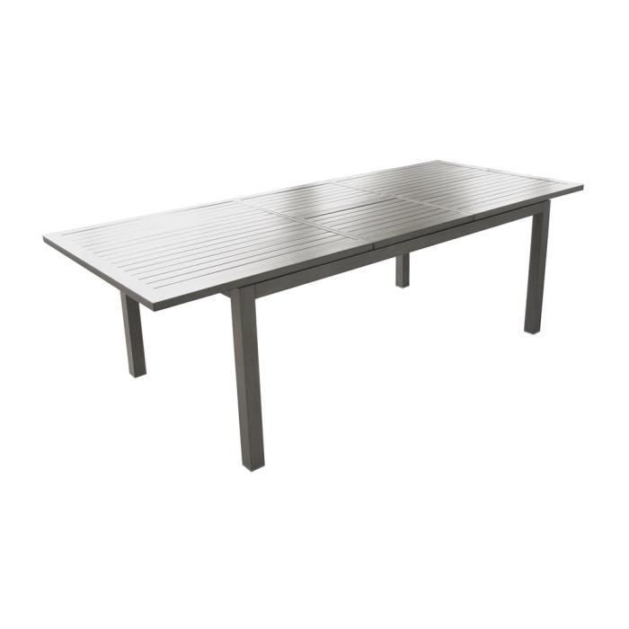 Trieste Table 240 Alu Allonge Papillon- Ice - Achat / Vente salon de ...