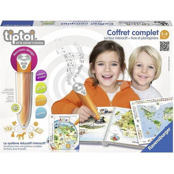 LIVRE INTERACTIF ENFANT TIPTOI Coffret lecteur & Livre Interactif Atlas