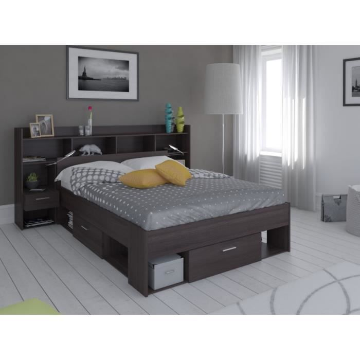 lit t te de lit kylian avec rangements. Black Bedroom Furniture Sets. Home Design Ideas