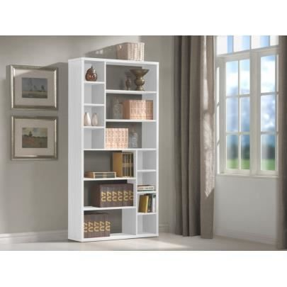 etag re hermine 14 niches blanc achat vente etag re murale etag re hermine 14 niches. Black Bedroom Furniture Sets. Home Design Ideas