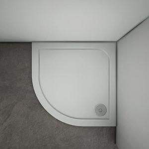 RECEVEUR DE DOUCHE receveur de douche 80x80x3cm 1/4 de cercle blanc e