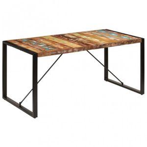 TABLE BASSE Table 160x80x75cm Bois de récupération massif - CS