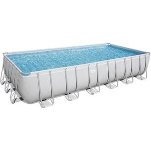 PISCINE BESTWAY Kit piscine rectangulaire Power Steel Fram