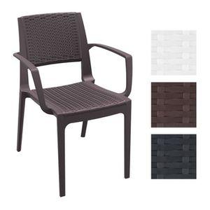 CLP Chaise de jardin CAPRI empilable, chaise cuisine, en ...