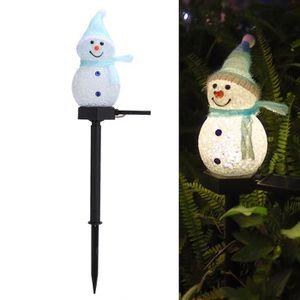 Jardin Décoration bonhomme de neige avec Solaire Lanterne 3820 Hiver Dekofigur
