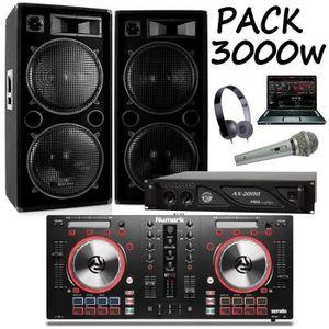 PACK SONO PACK SONO 3000W +  CONTROLEUR MIXTRACK PRO 3 NUMAR