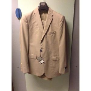COSTUME - TAILLEUR Costume-Homme-2-Pces-Marque-Serge-Blanco-Beige-T50