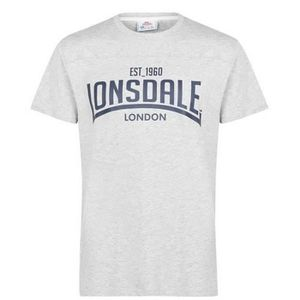 neuf LONSDALE T-shirt Blanc 100/% Coton Homme