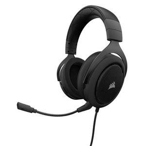 CASQUE AVEC MICROPHONE CORSAIR Casque Gamer Filaire HS50 - Noir (CA-90111