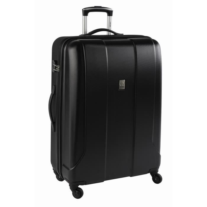 visa delsey valise trolley stratus 76 cm 4 roues noir noir. Black Bedroom Furniture Sets. Home Design Ideas