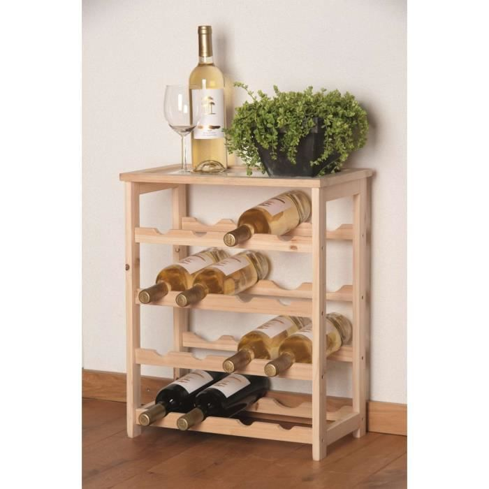 casier 16 bouteilles de vin en bois achat vente meuble. Black Bedroom Furniture Sets. Home Design Ideas