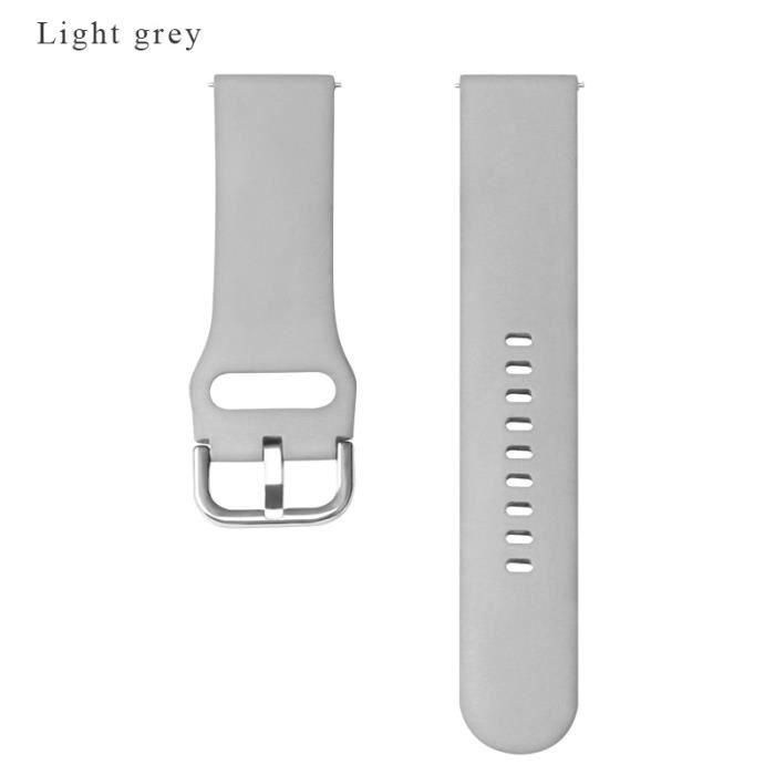 Montre connectée,BOORUI bracelet en Silicone pour Huami Amazfit Bip dragonne 20-22mm pour Samsung - Type Gray-20Amazfit bip or gts