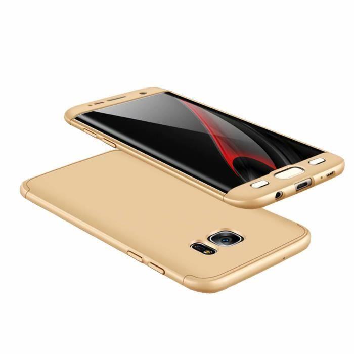Coque Samsung Galaxy A50Rose D'or 3 en 1 Hybrid Dur PC Bumper Cover Anti