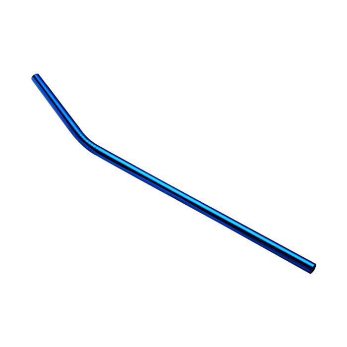 tenoens® 6 mm Diamètre Bars en métal en acier inoxydable réutilisable lavable pailles Bent Bleu_2446