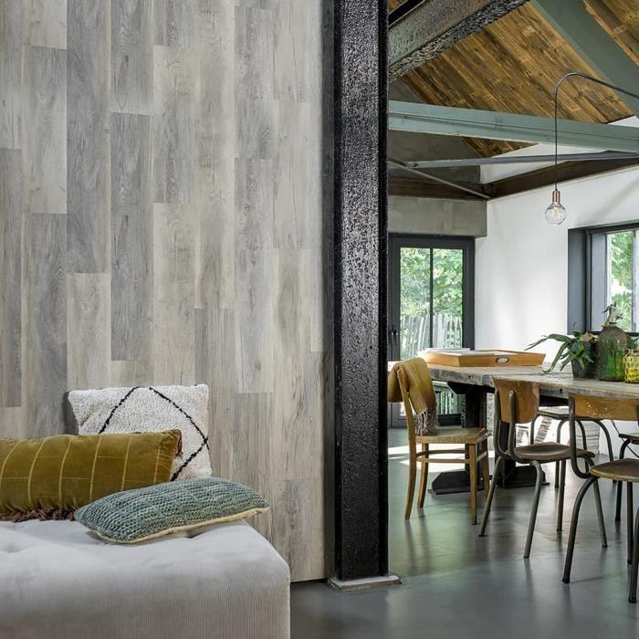 Planches d'aspect de bois - Planches de sol Revetement En Planche Chêne de bois de grange Blanchi Excellent ♫99716
