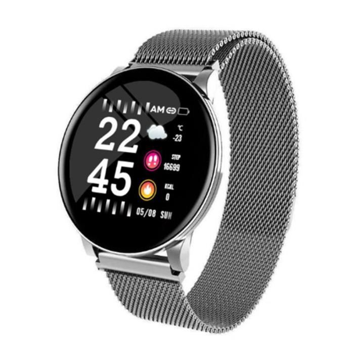 TROZUM wear fit montre intelligente W8 pour hommes pression artérielle fréquence cardiaque Fitness Tracker podomèt - Argent - WL2108