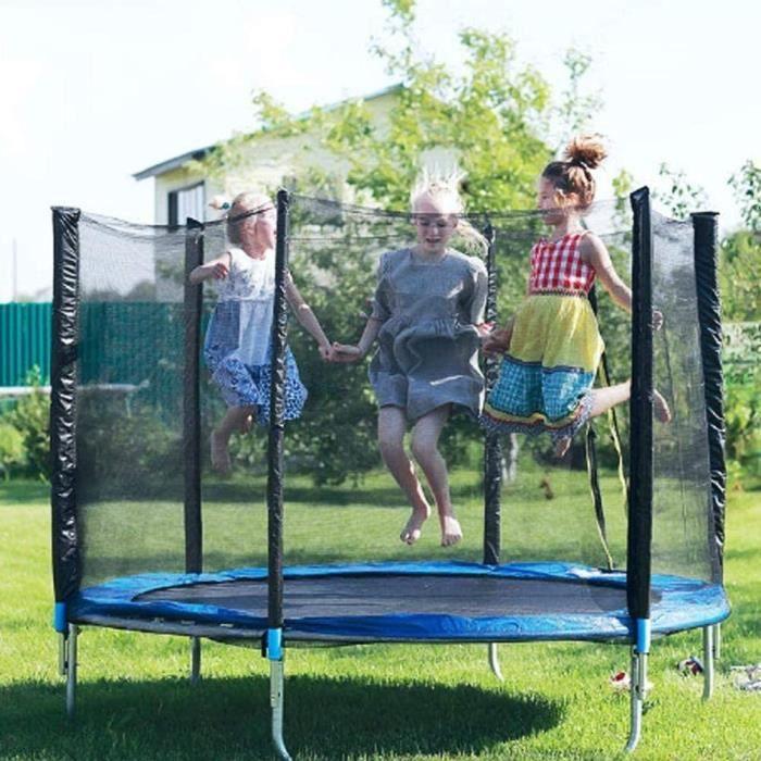 Filet de protection pour trampoline, filet de remplacement pour trampoline de jardin de 12 pi, résistant déchirures, filet seulement