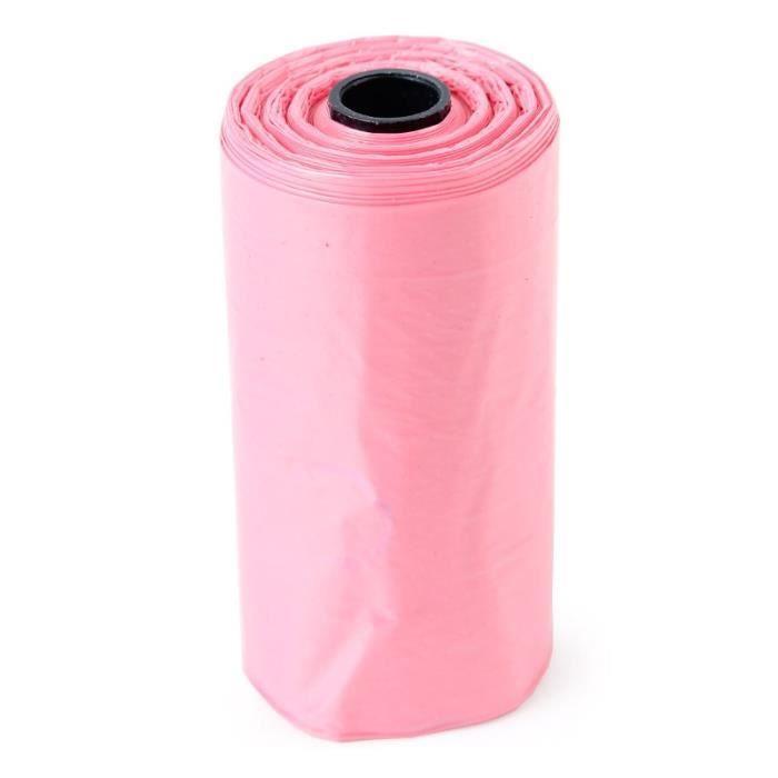 Sac de proprete excrements,100 rouleau 1500 pièces chien sac merde zéro déchets animaux de compagnie déchets - Type pink-1500PCS