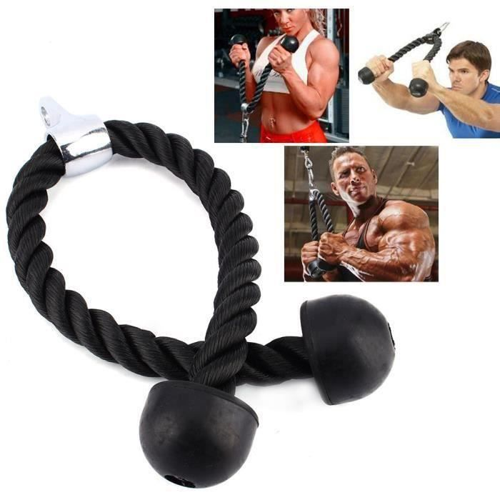 L1225 Câble Corde Cordon Entraînement Tirage Musculation Biceps Triceps Gym Fitness