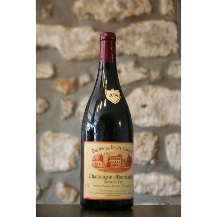 Chassagne Montrachet rouge 1er cru, Domaine des Hautes Cornieres, Magnum 2004 Simple