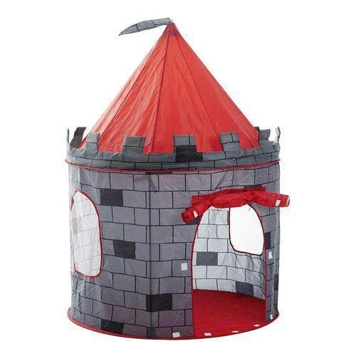 MSTORE - Tente de jeu pours motifs dinosaures - À partir de 3 ans - Intérieur/Extérieur - Construction légère - Gris/Rouge