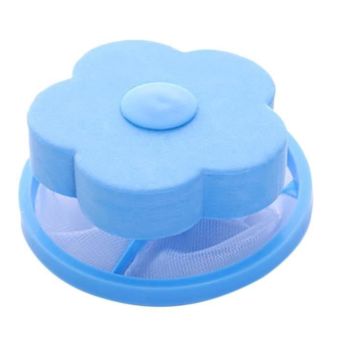 Filet De Lavage,1Pc Machine à laver vêtements flottant filet sac enlèvement balle débris fil nettoyage filtre filet - Type Bleu
