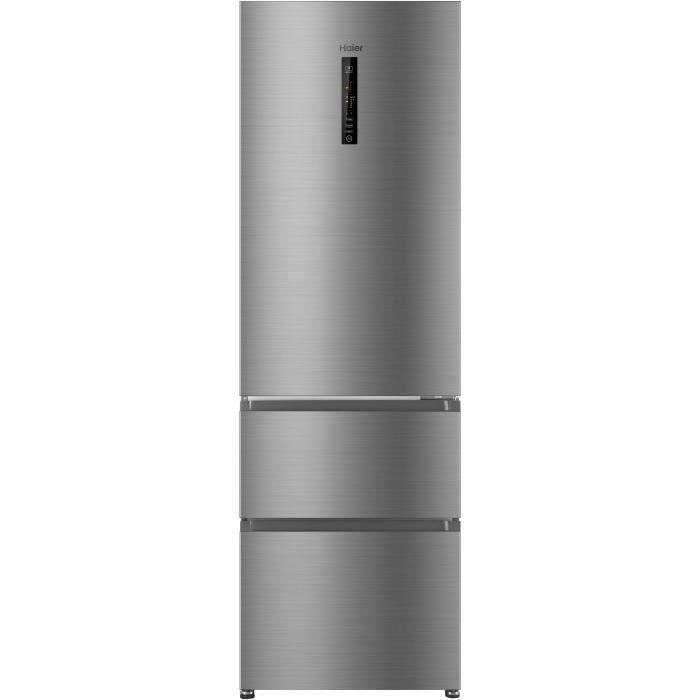 HAIER R3DF512DHJ - Réfrigérateur multi-portes - 330L (233+97) - Froid ventilé - A+ - L59.5 x H190,5 cm - Silver