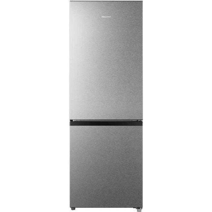 HISENSE RB224D4BDF - Réfrigérateur congélateur bas - 165L (122L + 43L) - froid statique - L 49,5cm x H 143cm - Silver