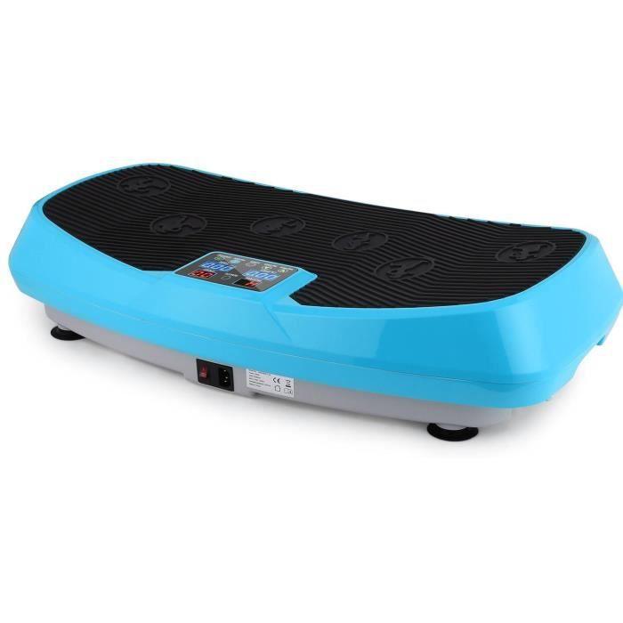 ANCHEER Fitness Plateforme Vibrante 250W Pour maigrir cardio fitness - 120KG Capacité - Bleu