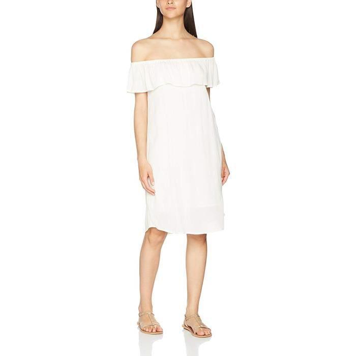 ICHI Marrakech DR2 Robe Blanc (Cloud Dancer 10111), 42 (Taille du Fabricant:Large) Femme - 20103352-10111