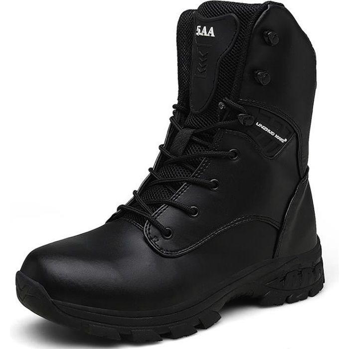 Chaussures de Randonnée Hommes Bottes Militaire Patrouille Combat Armée Tactique Recrues Armée Désert Sécurité Militaire Chaussure