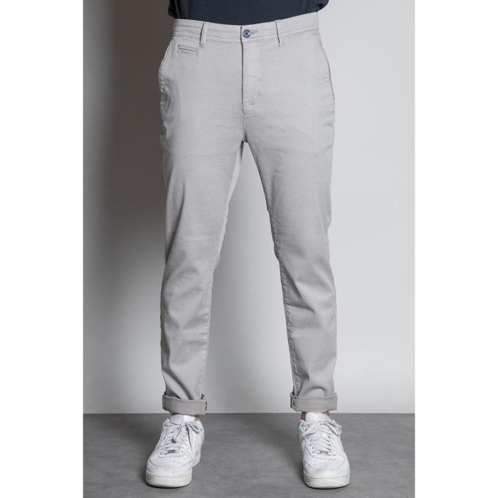 DEELUXE Pantalon chino slim ALMA Grey