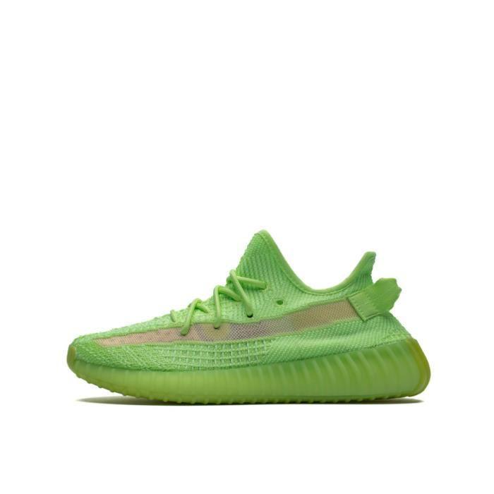 Basket BOOST 350 V2 Glow In Dark GID EG5293 Chaussures de Running Homme Femme - Vert