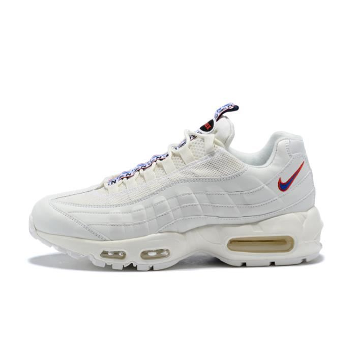 Baskets NIKEs AIRs Max 95 OG Chaussures de Running Basses Femme Homme blanc