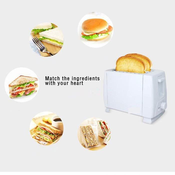 grille-pain multifonction entièrement automatique 2 tranches grille-pain~P°