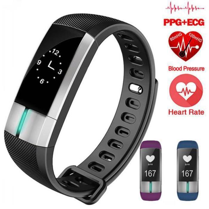 1Pc bracelet intelligent étanche Durable IP67 portatif bande intelligente tensiomètre pour Sport de santé PODOMETRE