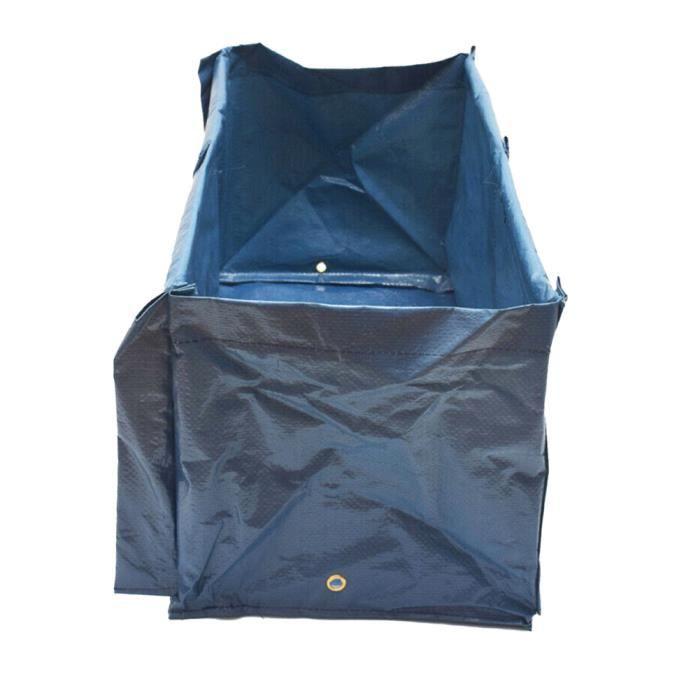 Sac de culture,sac de culture Grand sac de plantation Planteur de jardin 6 Cadre de support pour les légumes de tomates ,Houses Bleu