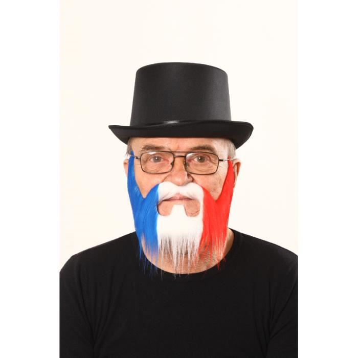 Barbe luxe supporter france (bleu-blanc-rouge)