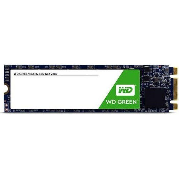 WD Green™ - Disque SSD Interne - 120 Go - M.2 SATA (WDS120G2G0B)