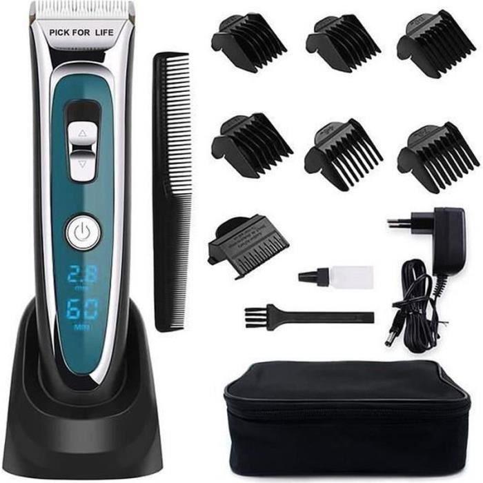HK28519-Tondeuse Cheveux Professionnelle Tondeuse Barbe Electrique avec Ecran LCD Sans Fil Rechargeable pour Enfants Adultes Perso