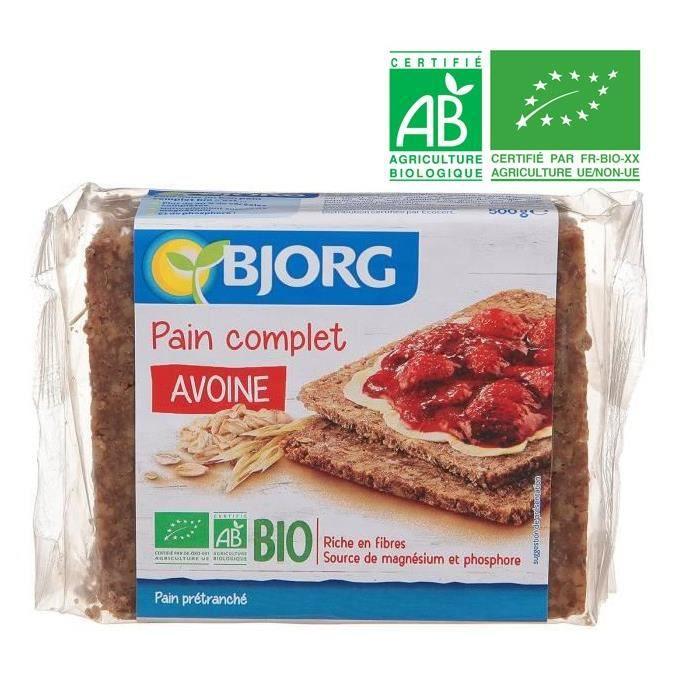 BJORG Pain Complet Avoine Bio - 500 g