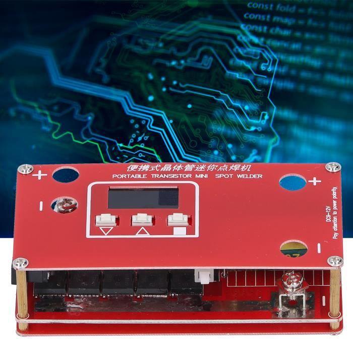 Soudeuse par points, avec machine de soudage par points à écran LCD, multifilament à faible résistance portable haute fréquenceHB0