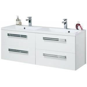 Ensemble meuble 2 vasques seducta alterna blanc achat for Alterna salle de bain avis