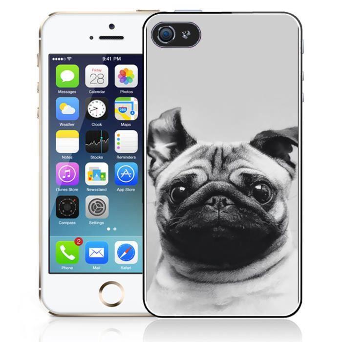 Coque iPhone 5C Chien Carlin Oreilles