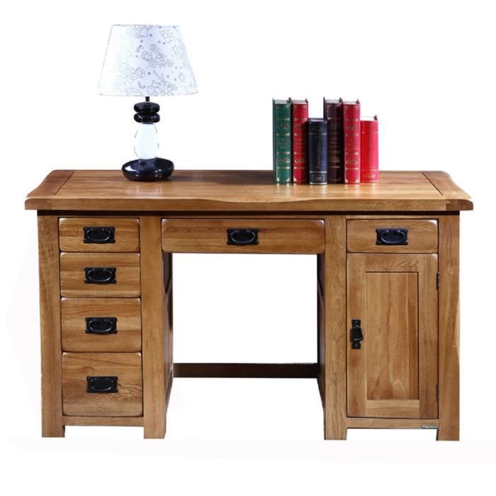 huayi tables d ordinateur en ch ne massif mobilier de biblioth que achat vente bureau. Black Bedroom Furniture Sets. Home Design Ideas