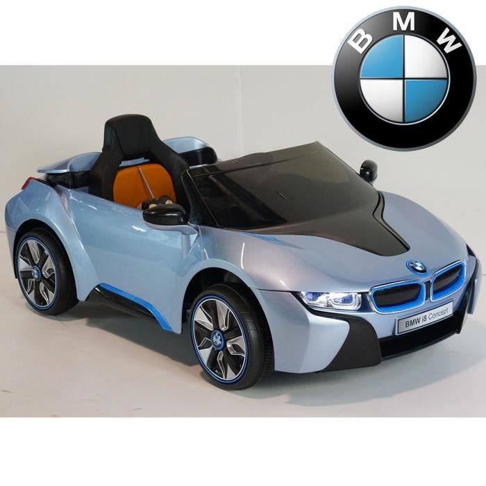 bmw i8 licence bleu voiture lectrique enfant 12v. Black Bedroom Furniture Sets. Home Design Ideas