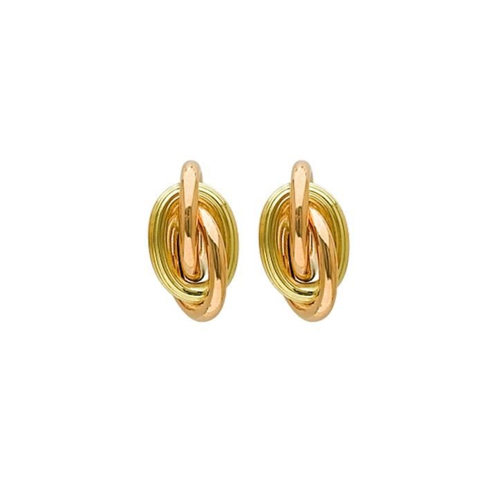DIAMANTLY Boucles doreilles noeud antillais d.8 mm or 750 jaune