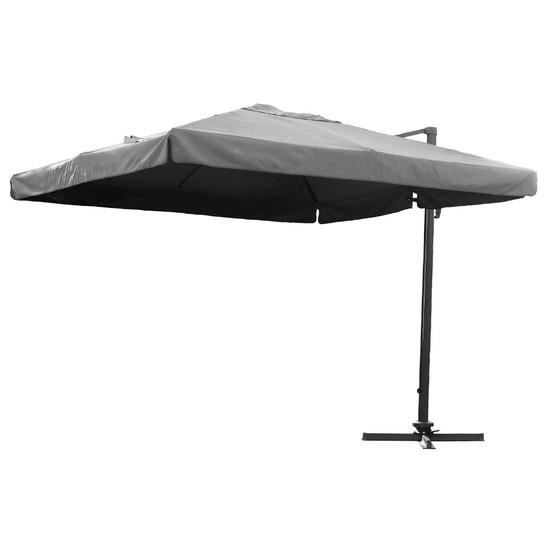 parasol d port carr avec pied coloris gris achat vente parasol parasol d port carr avec. Black Bedroom Furniture Sets. Home Design Ideas