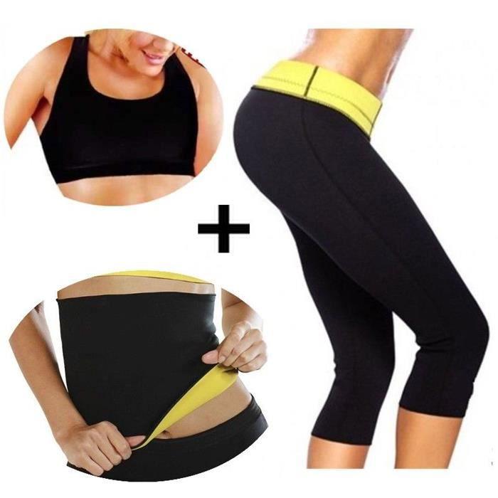 ceinture de sudation HOT minceur et ventre plat en neoprene fitness shaper taille du S au XXXL SECRETDRESSING